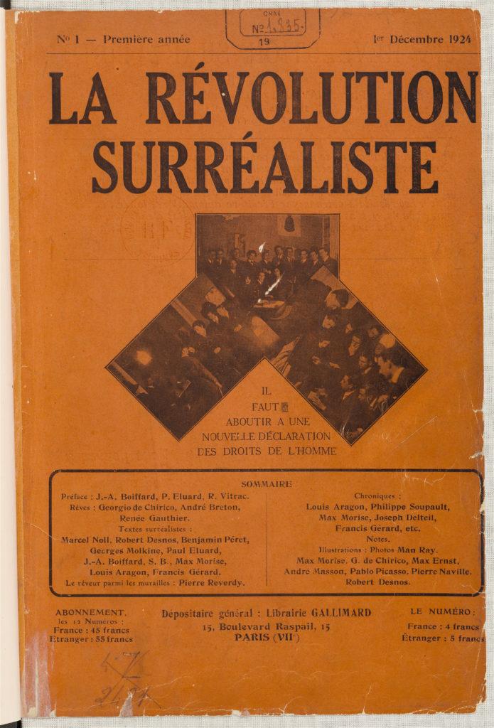 La Révolution surréaliste, n°1